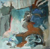Attendrissement 1 (2015) : Acrylique sur Toile   80 x 80 cm.