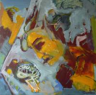 Attendrissement 2 (2015) : Acrylique sur Toile   80 x 80 cm.