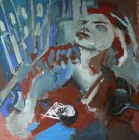 Attendrissement 3 (2015) : Acrylique sur Toile   80 x 80 cm.