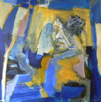 Attendrissement 4 (2015) : Acrylique sur Toile   80 x 80 cm.