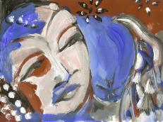 Sans Titre (2010) : technique mixte sur Papier   14 x 19 cm.