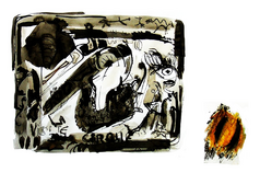 Sans Titre (2005) : technique mixte sur Papier   30 x 40 cm.
