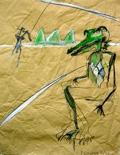 Sans Titre (2006) : Acrylique sur Papier   106 x 82 cm.