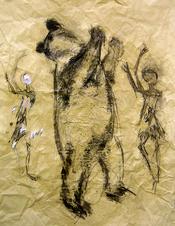 Sans Titre (2006) : technique mixte sur Papier   106 x 82 cm.