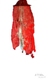 Arlequin (2006) : Acrylique monotype sur Papier   50 x 33 cm.