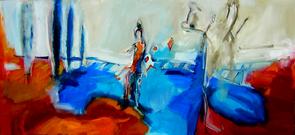 Sans Titre (2006) : Huile sur Toile   70 x 150 cm.