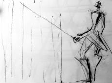 Sans Titre (2006) : Fusain sur Papier   30 x 40 cm.