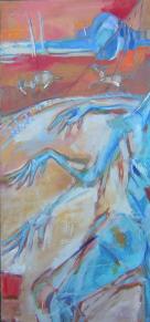 Les Ânes (2006) : Huile sur Toile   150 x 70 cm.