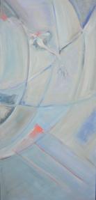Le Saut (2007) : Huile sur Toile   150 x 70 cm.