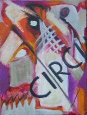 Circu (2007) : technique mixte sur Toile   44 x 33 cm.