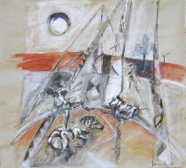 Cirque (2006) : technique mixte sur Papier   70 x 77 cm.