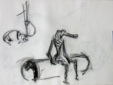 Crocodile (2006) : Fusain sur Papier   30 x 40 cm.