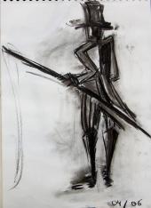 M.Loyal (2006) : Fusain sur Papier   40 x 30 cm.