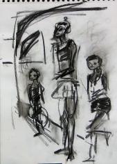 La Caravane (2006) : Fusain sur Papier   40 x 30 cm.