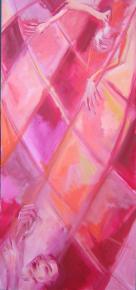 La Corde (2007) : Huile sur Toile   150 x 70 cm.