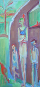 lLa Caravane (2006) : Huile sur Toile   150 x 70 cm.