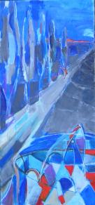L'Allée (2006) : technique mixte sur Toile   150 x 70 cm.