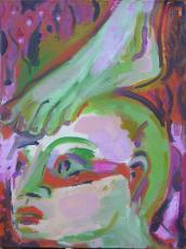 Contorsion 2 (2007) : Huile sur Toile   48 x 33 cm.