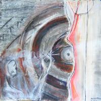 Les Couteaux (2007) : technique mixte sur Papier   96 x 100 cm.