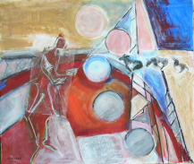 Les Ânes (2006) : technique mixte sur Papier   85 x 100 cm.