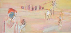 La Pomme (2007) : Huile sur Toile   150 x 70 cm.