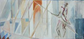 Monsieur Loyal (2007) : Huile sur Toile   150 x 70 cm.