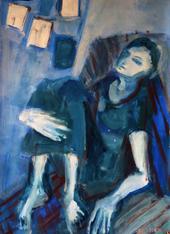 Jeune Femme à Dakar 3 (2016) : Acrylique sur Papier   110 x 75 cm.