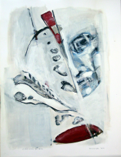 L'Ecriture du Dieu (2010) : technique mixte sur Papier   65 x 50 cm.