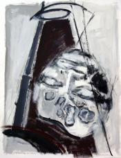 L'Ecriture du Dieu (2010) : Acrylique sur Papier   65 x 50 cm.