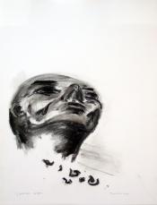 L'Ecriture du Dieu (2010) : Fusain sur Papier   65 x 50 cm.