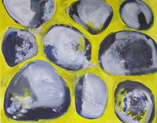 Stepping Stones (2012) : Acrylique sur Toile   73 x 93 cm.