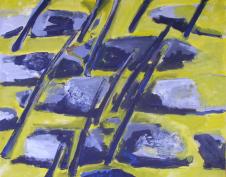 Gué (2012) : Acrylique sur Toile   73 x 93 cm.