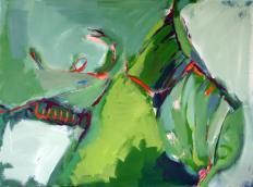 Après-Midi (2012) : Acrylique sur Toile   73 x 100 cm.