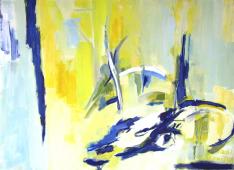 Faune (2012) : Acrylique sur Papier   73 x 100 cm.