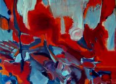 Sans Titre (2012) : Acrylique sur Toile   73 x 100 cm.