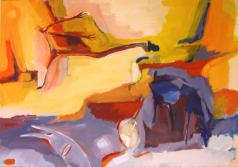 Péléas Part (2012) : Acrylique sur Toile   81 x 116 cm.