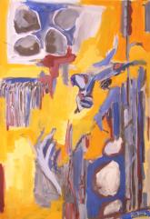 L'Après-Midi d'un Faune (2012) : Acrylique sur Toile   116 x 81 cm.
