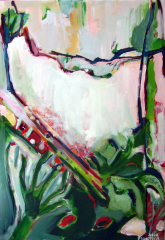 Roseau (2012) : Acrylique sur Papier   116 x 81 cm.