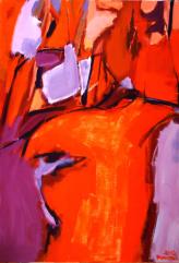 Torse (2012) : Acrylique sur Toile   116 x 81 cm.