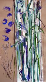 L'Après-Midi d'un Faune (2012) : technique mixte sur Papier   175 x 100 cm.