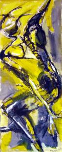 Sans Titre (2012) : technique mixte sur Toile libre   167 x 67 cm.