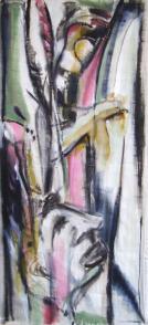 Sans Titre (2012) : technique mixte sur Papier   210 x 96 cm.