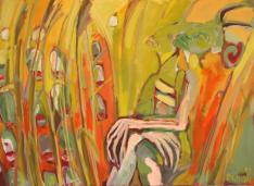 Syrinx (2012) : Acrylique sur Toile   73 x 101 cm.