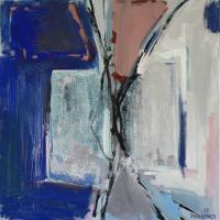 Fenêtre Branches 2 (2012) : Acrylique sur Toile   80 x 80 cm.