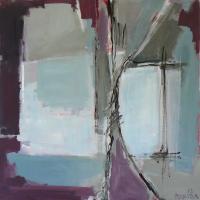Fenêtre Branches 3 (2012) : Acrylique sur Toile   80 x 80 cm.