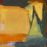 Fenêtre Branches 4 (2012) : Acrylique sur Toile   80 x 80 cm.