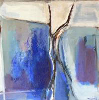 Fenêtre Branches 5 (2012) : Acrylique sur Toile   100 x 100 cm.