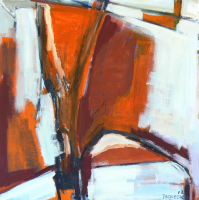 Fenêtre Branches 6 (2012) : Acrylique sur Toile   100 x 100 cm.