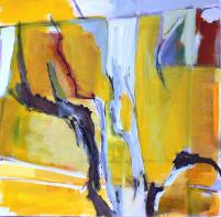Fenêtre Branches 7 (2012) : Acrylique sur Toile   100 x 100 cm.