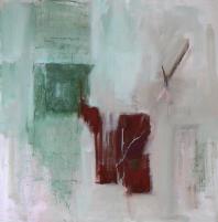 Fenêtre Branches 8 (2012) : Acrylique sur Toile   100 x 100 cm.